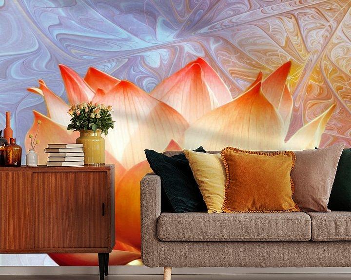 Sfeerimpressie behang: Sunshine Lotus van Jacky Gerritsen
