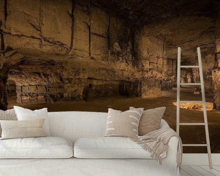 Beispiel fototapete: Underground limestone quarry von Bert Beckers