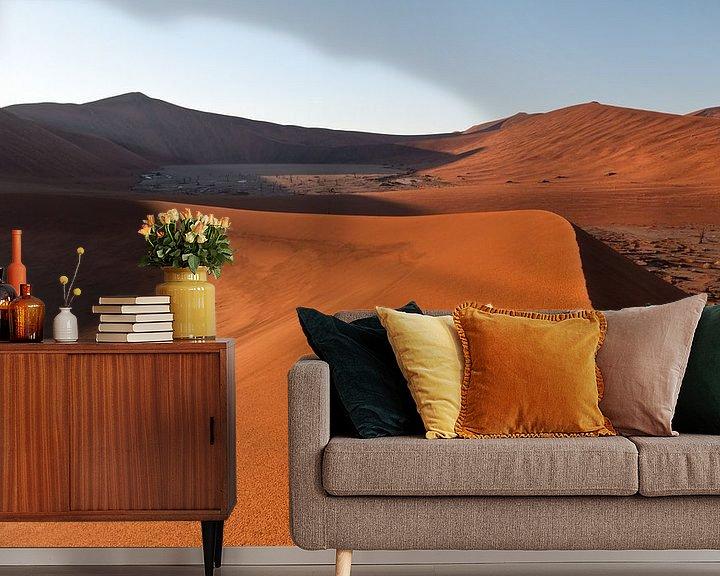 Sfeerimpressie behang: Highest sand dunes of the world van Damien Franscoise