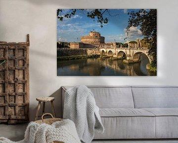 Castel San' Angelo (Engelenburcht), Rome van Martin de Bock