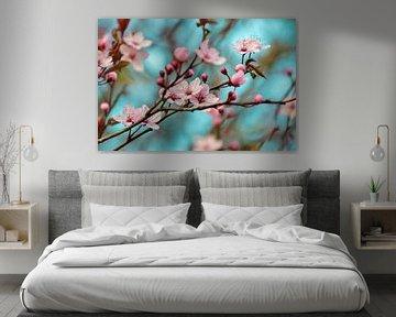 Plum Flower  van Julia Delgado