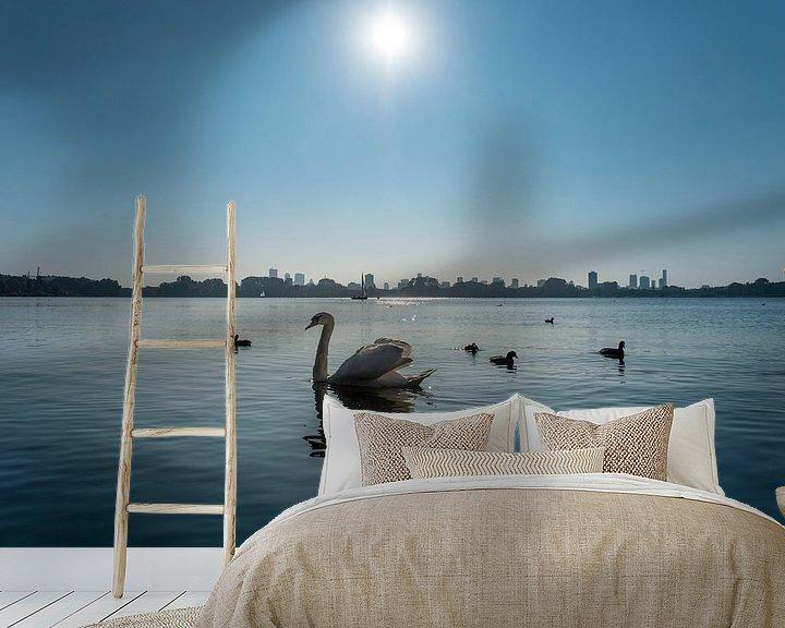 Sfeerimpressie behang: Zwanenmeer van Arjen Roos