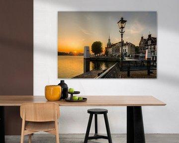 Dordrecht, Groothoofd bei Sonnenaufgang von Kees van der Rest
