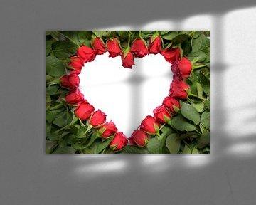 Herz als Symbol von rote Rosen von Ben Schonewille