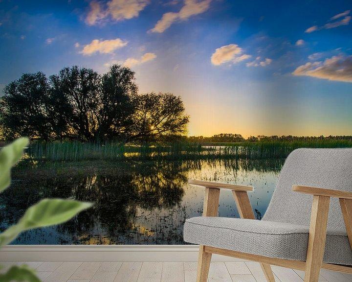 Beispiel fototapete: Sunset Hurwenense Kil von Eric van Schaijk