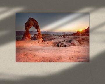 Delicate Arch, Utah van Jan Schuler