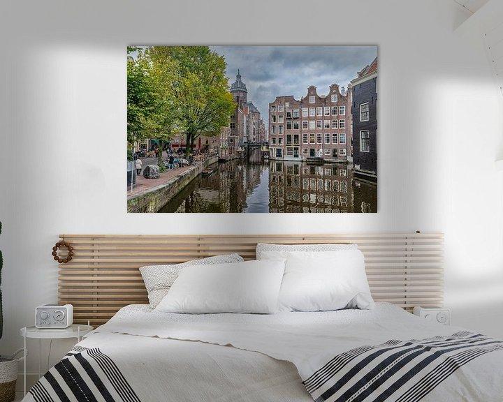 Sfeerimpressie: Vanaf de Armbrug in Amsterdam. van Don Fonzarelli