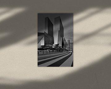 Delftse Poort te Rotterdam in zwart/wit
