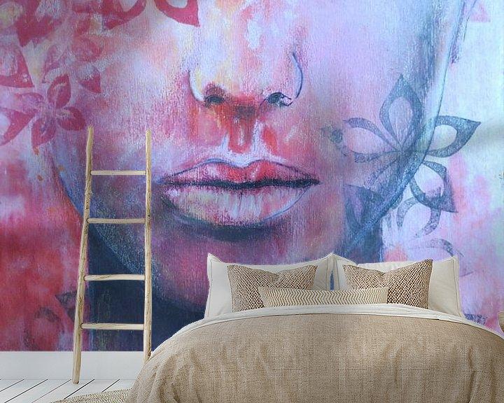 Sfeerimpressie behang: Soulsurching van Helma van der Zwan