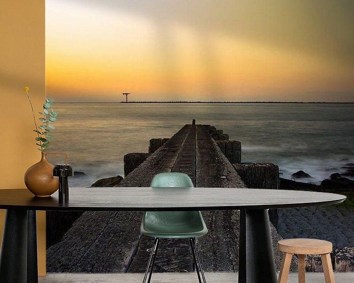 Impression: Sunset ; jetty  sur PJS foto