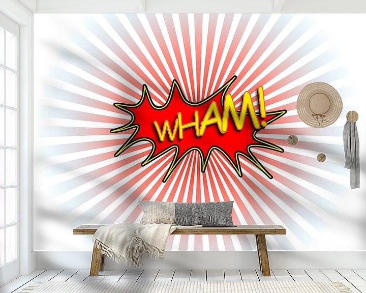Sfeerimpressie behang: Wham van Jan Brons
