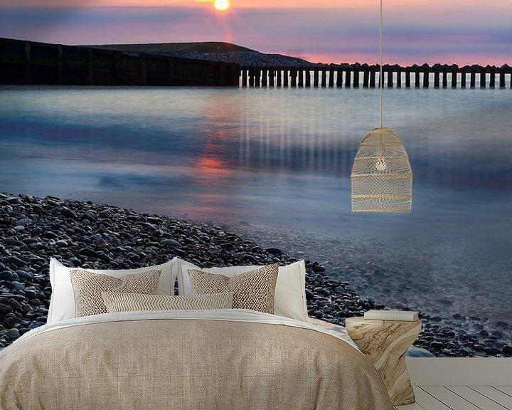 Sfeerimpressie behang: Zonsondergang l.e.  (2) van PJS foto