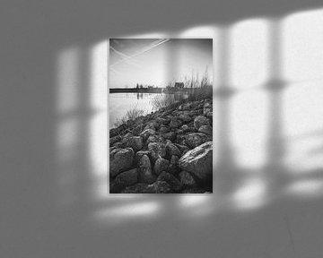 Yin en Yang landschap zwart wit van Chris Snoek