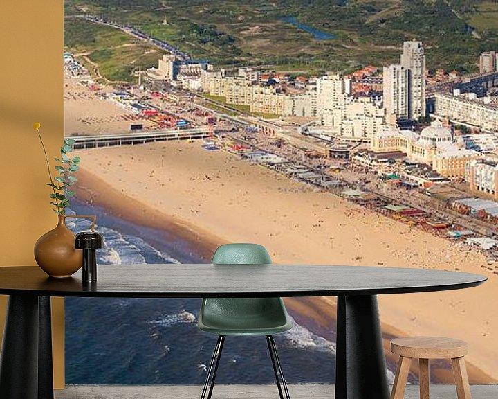 Sfeerimpressie behang: Luchtfoto panorama Scheveningen van Anton de Zeeuw