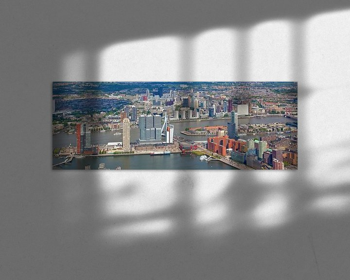 Sfeerimpressie: Luchtfoto panorama Skyline Rotterdam van Anton de Zeeuw
