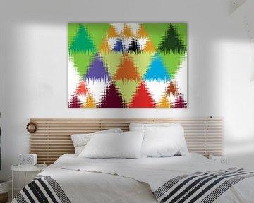 Driehoek wand van Jolanta Mayerberg