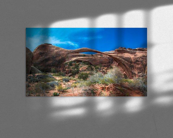 Impression: Landscape Arch dans Arches National Park, Utah sur Rietje Bulthuis