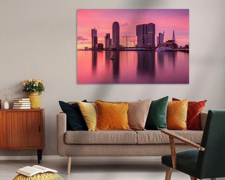 Sfeerimpressie: Red sunset in Rotterdam van Ilya Korzelius