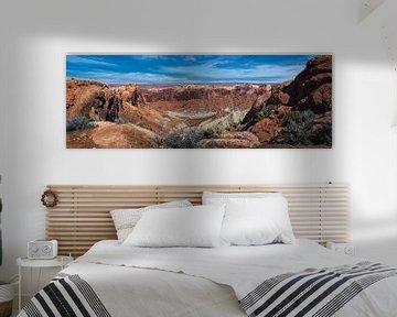 Panorama der Landschaft im Canyonlands, Utah von Rietje Bulthuis
