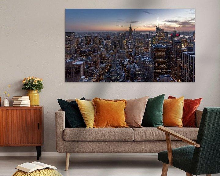 Sfeerimpressie: New York City - Zonsondergang van Ivo de Bruijn
