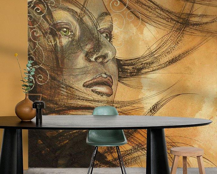 Sfeerimpressie behang: Feel van Helma van der Zwan