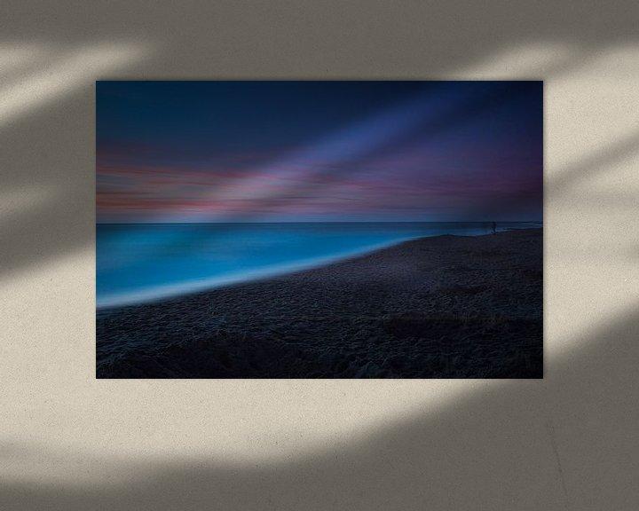 Sfeerimpressie: Zonsondergang, Texel: Last light, slight movement van Alexander Tromp