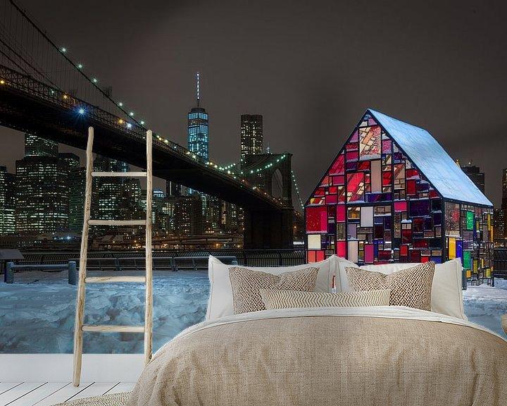 Sfeerimpressie behang: Tom Fruin's Stained Glass House - New York van Ivo de Bruijn