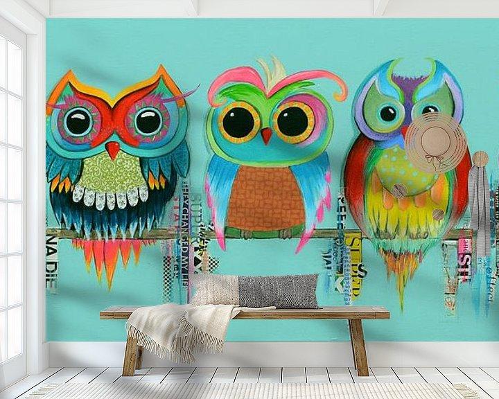 Sfeerimpressie behang: Look at us van Janet Edens