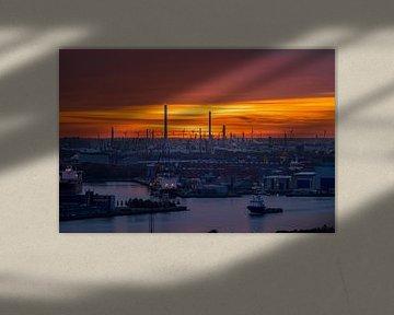 Industrie en de Europort in Rotterdam