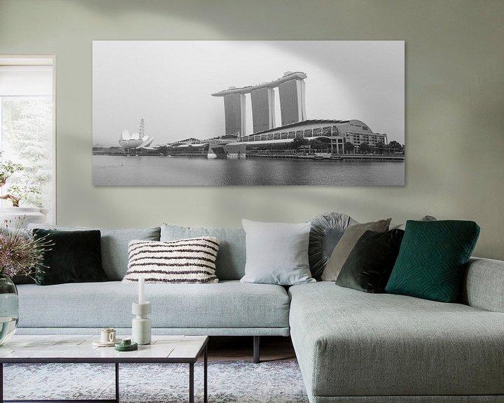Sfeerimpressie: Marina Bay Sands, zwart wit van Capture the Light