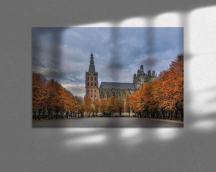 Beispiel: St. Johannes Kathedrale und die Parade in 's-Hertogenbosch (Herbstfarben) von Fotografie Jeronimo
