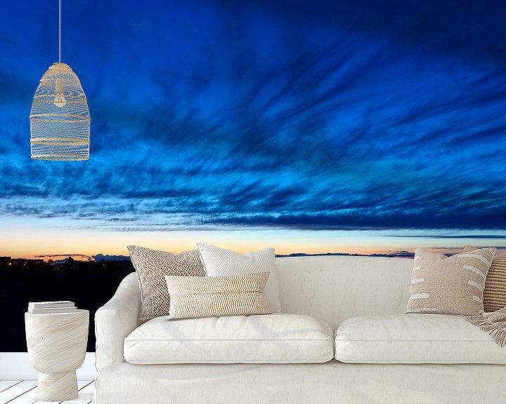 Sfeerimpressie behang: Zonsondergang in Denia van Elly Damen