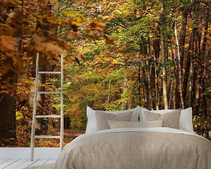 Sfeerimpressie behang: Herfst van Elly Damen