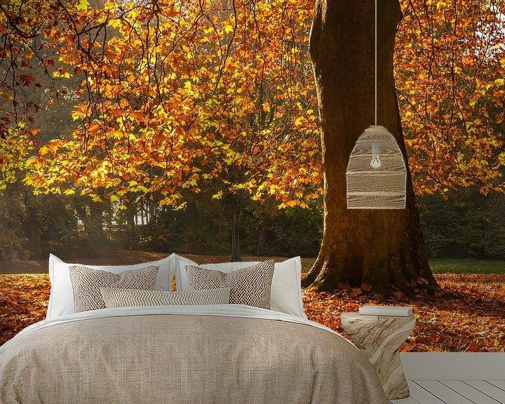 Sfeerimpressie behang: Herfst in Rotterdam van Ilya Korzelius