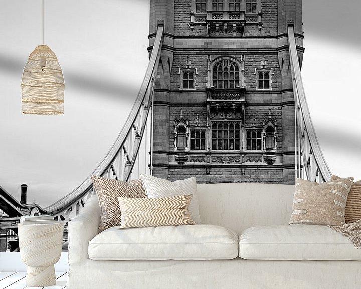 Sfeerimpressie behang: London ... Tower Bridge II van Meleah Fotografie