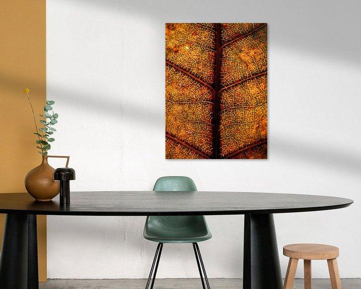 Sfeerimpressie: Glas in lood boomblad van Vectorific Design