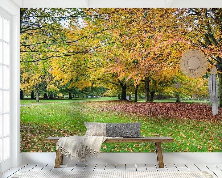 Beispiel fototapete: Herfstpanorama (2) von Rob IJsselstein