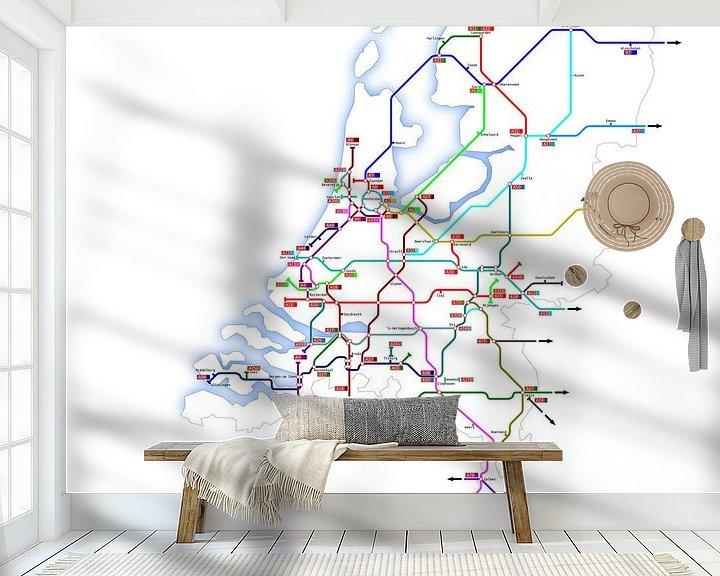 Sfeerimpressie behang: Snelwegen in Nederland van Jan Brons