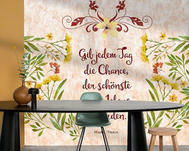 Sfeerimpressie behang: WISDOM Today van Melanie Viola