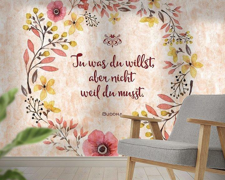 Sfeerimpressie behang: WISDOM Joy van Melanie Viola