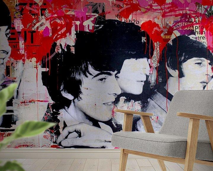 Sfeerimpressie behang: All we need is love van Michiel Folkers