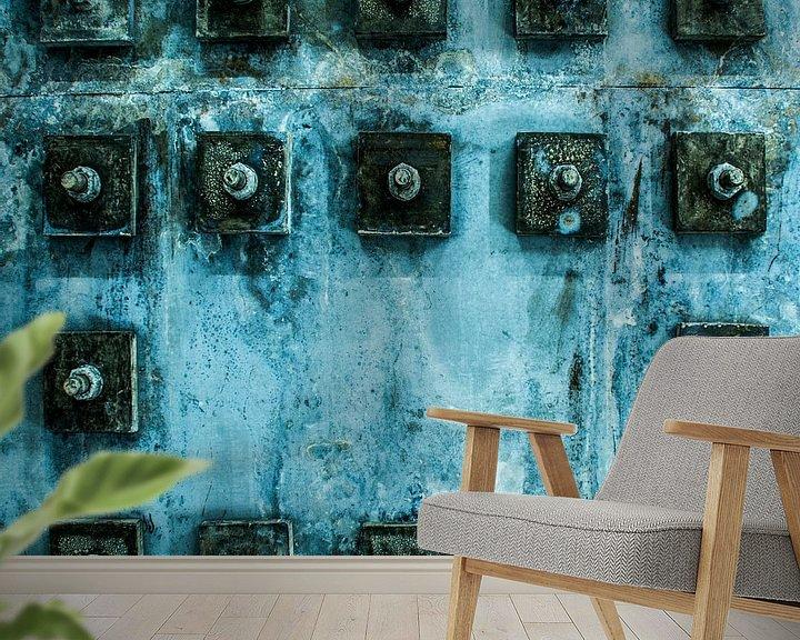 Sfeerimpressie behang: Industrieel patroon van Ton de Koning