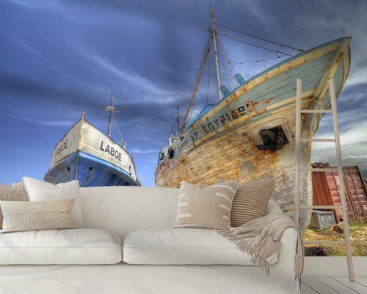 Sfeerimpressie behang: No fishing today... van Hans Kool