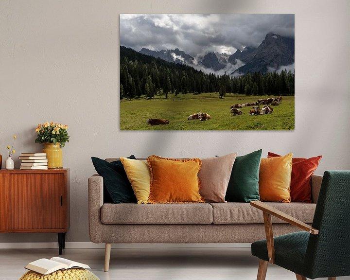 Sfeerimpressie: Koeien in de Alpen van Wim Slootweg