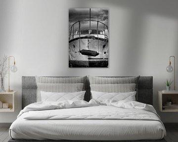 Boot op scheepswerf van Johan Zwarthoed