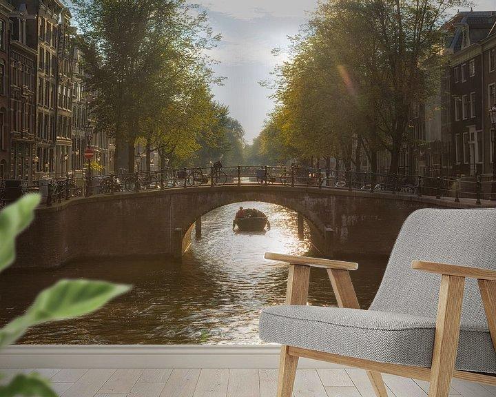Sfeerimpressie behang: Amsterdamse Grachten van Thomas van Galen