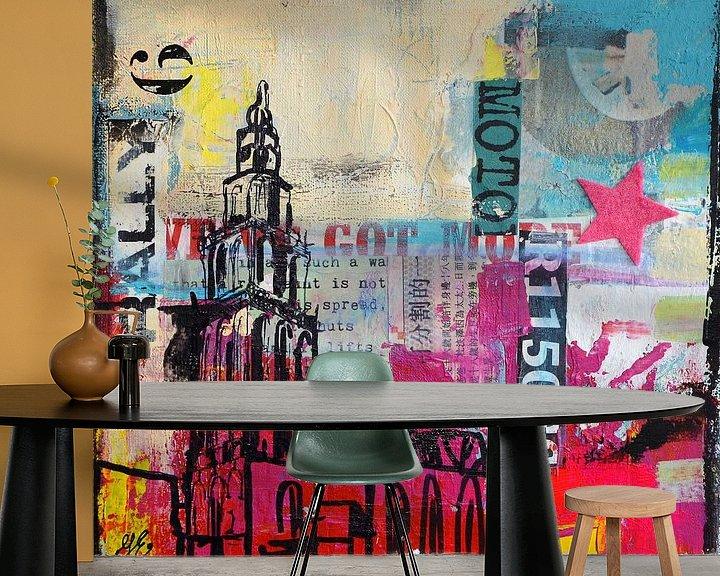 Sfeerimpressie behang: Martinitoren star van Janet Edens