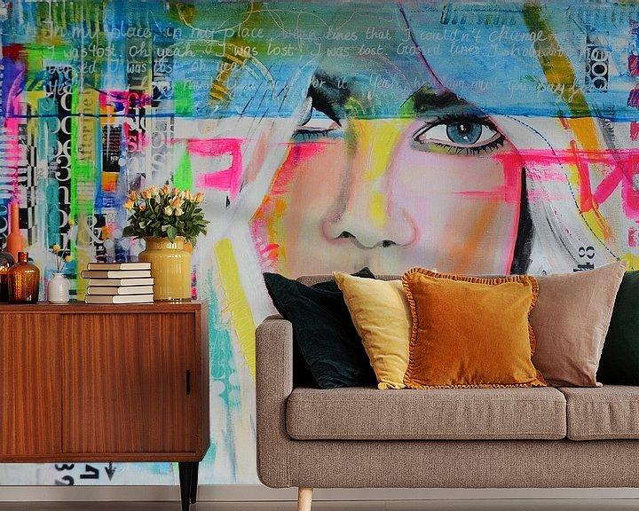 Sfeerimpressie behang: In my place van Janet Edens
