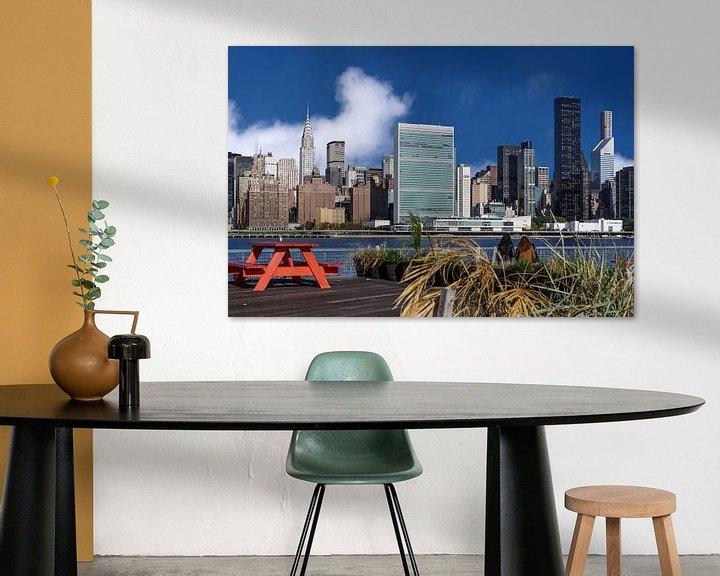 Sfeerimpressie: East River und Midtown Manhattan van Kurt Krause