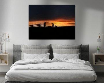 Zonsondergang.  Sunset. van Joke Schippers